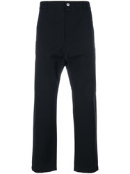 Golden Goose Deluxe Brand Cropped Tailored Trousers Black