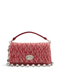 Miu Miu Quilted Gingham Shoulder Bag Red White