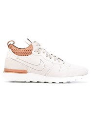 Nikelab Internationalist Mid Royal Sneakers Men Leather Rubber 11 Nude Neutrals