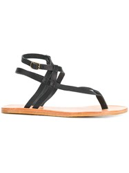 N.D.C. Made By Hand Tassel Detail Sandals Black