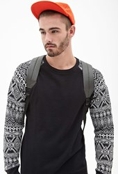 Forever 21 Tribal Print Colorblocked Sweatshirt Black Cream