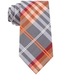 Geoffrey Beene Petros Plaid Ii Tie Orange