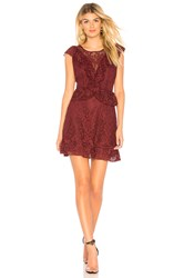 Bb Dakota Rsvp By Shaken Not Stirred Dress Burgundy