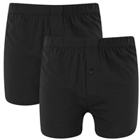 Wolsey Men's Twin Pack Jersey Boxer Shorts Black