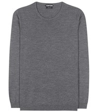 Tom Ford Virgin Wool Blend Sweater Grey