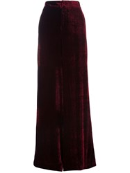 Etro Wide Leg Trousers Red