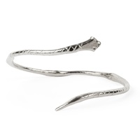 Chupi Strong Mind Tender Heart Snake Bangle Silver