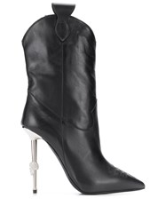 Philipp Plein Pointed Stiletto Boots Black
