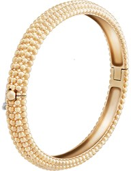 Van Cleef And Arpels Perlee Pink Gold Bracelet Small Yellow Gold
