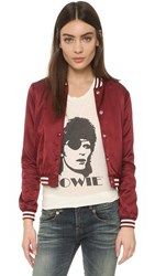 R 13 Shrunken Roadie Jacket Burgundy