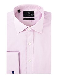 Chester Barrie Men's Contemporary Fine Triple Stripe Shirt Pink