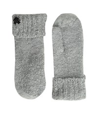 Betsey Johnson Fuzzy Logic Mitten Grey Extreme Cold Weather Gloves Gray