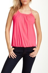 Ramy Brook J.M. Matte Silk Blend Halter Pink