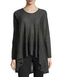 Max Studio Knit Scoop Neck A Line Sweater Charcoal