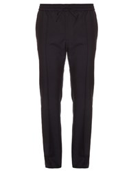 Valentino Drawstring Waist Tailored Trousers Navy