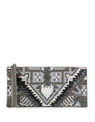 Mary Frances Beaded Geometric Clutch Multi Colored