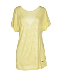Guess By Marciano T Shirts Ivory