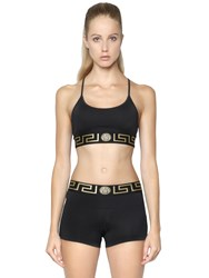 Versace Lycra Sports Bra W Greek Detail