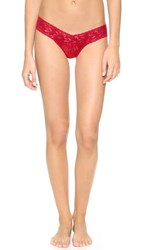 Hanky Panky Signature Lace Low Rise Thong Red