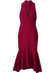 Rebecca Vallance 'Bravado' High Neck Dress Red