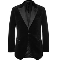 Gieves And Hawkes Black Slim Fit Velvet Tuxedo Jacket