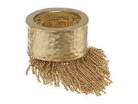 Vince Camuto Half And Half Chain Fringe Ring Antique Gold Ring