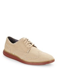 Cole Haan Original Grand Wingtip Loafers Milkshake Canvas