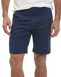 Robert Graham Pioneer Cotton Twill Flat Front Shorts Navy