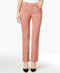 Lee Platinum Petite Gwen Colored Wash Straight Leg Jeans Only At Macy's Blush