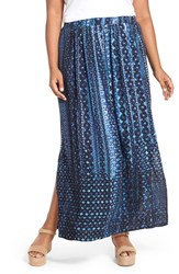 Plus Size Women's Nic Zoe 'Fountain' Print A Line Maxi Skirt