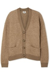 Acne Studios Rives Oversized Knitted Cardigan Camel
