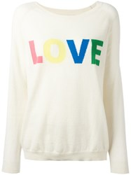 Chinti And Parker Cashmere Love Jumper White