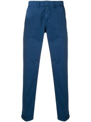 Fay Slim Fit Chinos Blue