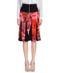 Custo Barcelona Skirts Knee Length Skirts Women Red