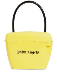 Palm Angels Logo Printed Handle Bag Yellow