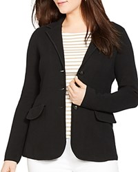 Lauren Ralph Lauren Plus Knit Blazer Black
