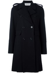 Valentino Double Breasted Peacoat Black