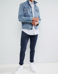 Bellfield Regular Fit Chino In Navy With Stretch