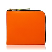 Comme Des Garcons Sa3100sf New Super Fluo Wallet Orange And Pink