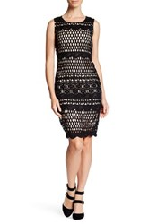 London Dress Company Skye Lace Panel Bodycon Black