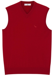 Jet 8 Red Sleeveless Cashmere Jumper