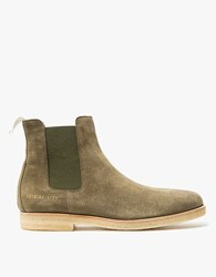 Common Projects Chelsea Boot Suede In Olive