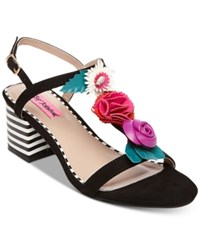 Betsey Johnson Andey Dress Sandals Women's Shoes Black