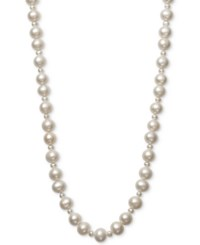 Belle De Mer Cultured Freshwater Pearl 4Mm 9 1 2Mm 36 Strand Necklace White