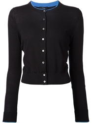 Paul Smith Contrast Trim Cardigan Black