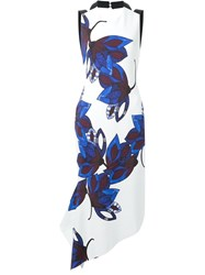 Manning Cartell Floral Print Open Back Dress White