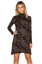 Clayton Amanda Long Sleeve Dress Brown