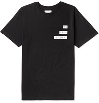 Public School Kissen Slim Fit Printed Cotton Jersey T Shirt Black