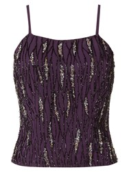 Raishma Sequin Crop Top Purple