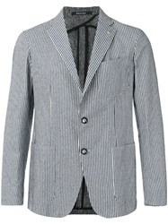 Tagliatore Sahara Striped Blazer Blue